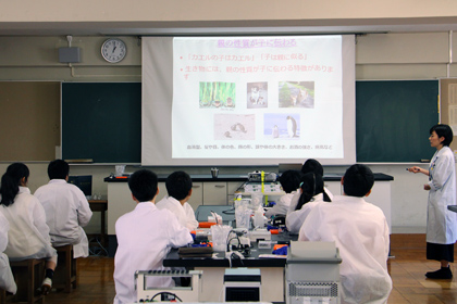 DNA出前講座@千葉県立千葉東高等学校