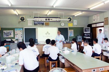 DNA出前講座@富津市立天羽東中学校