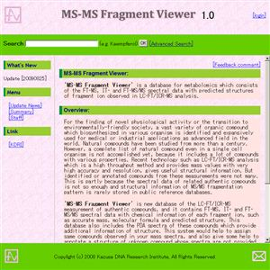 MS-MS Fragment Viewer
