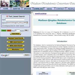 MMCD: Madison Metabolomics Consortium Database