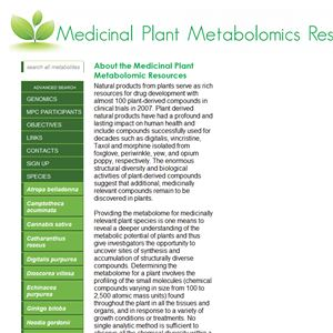 Medicinal Plant Metabolomics Resource